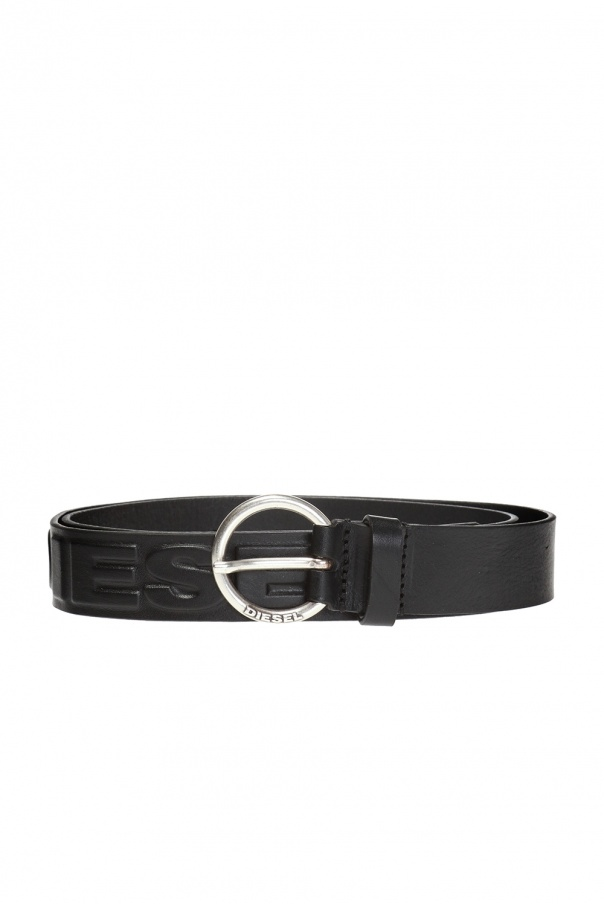 Diesel Logo-embossed belt