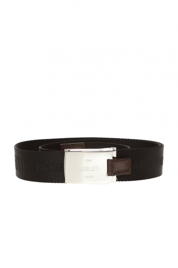 Berluti Belt with logo