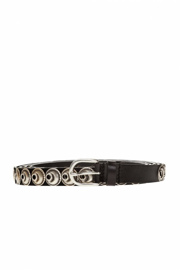 Isabel Marant Long belt with metal inserts