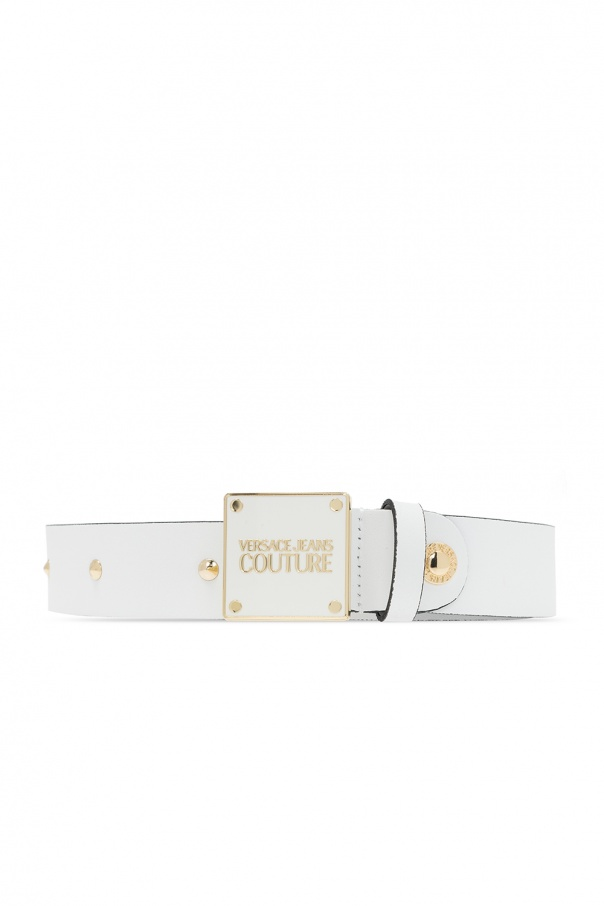 Versace Jeans Couture Leather belt with logo