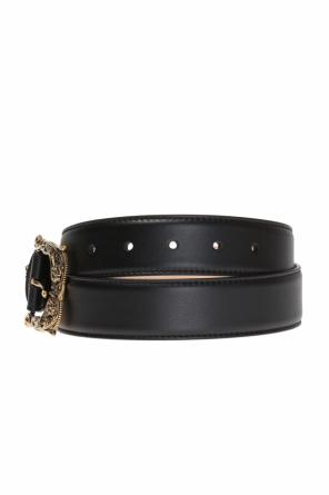 Embellished buckled belt od Versace