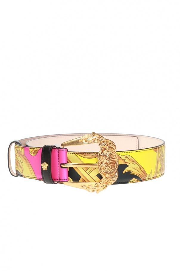 Baroque-printed belt od Versace