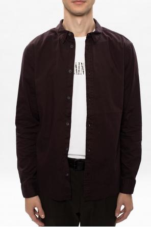 'dunston' leather belt od AllSaints