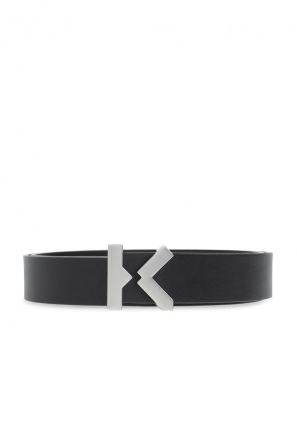 Kenzo Leather belt with logo