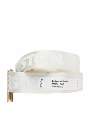 Belt with an embroidered logo od Heron Preston