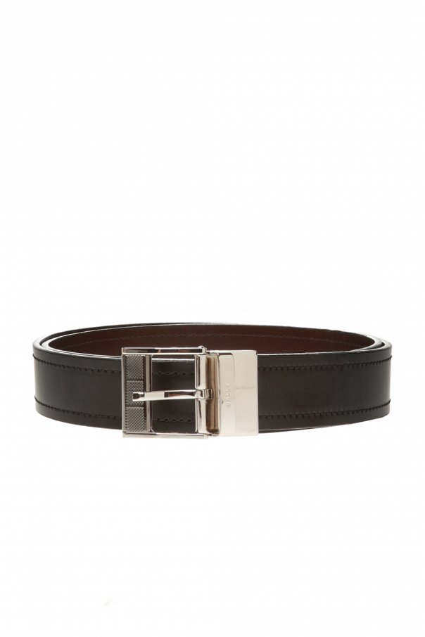 Bally Leather belt with logo