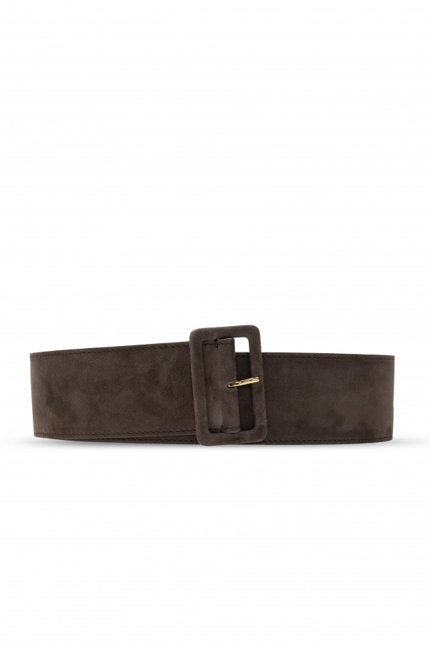 Agnona Buckled suede belt