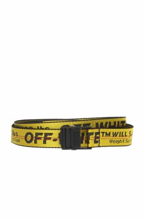 Patterned belt with logo od Off White