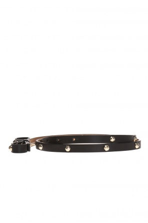 Thin studded belt od Valentino Red