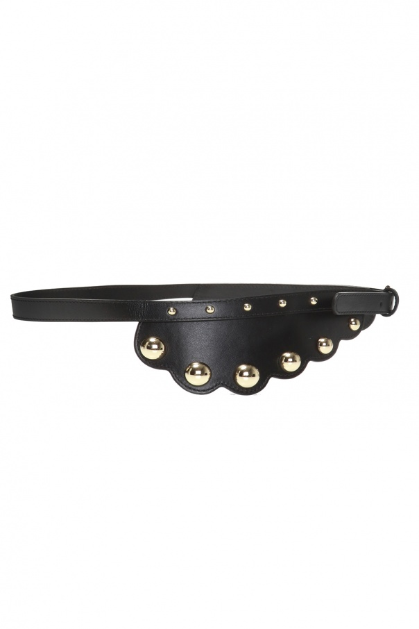 Metal-embellished waist belt od Red Valentino