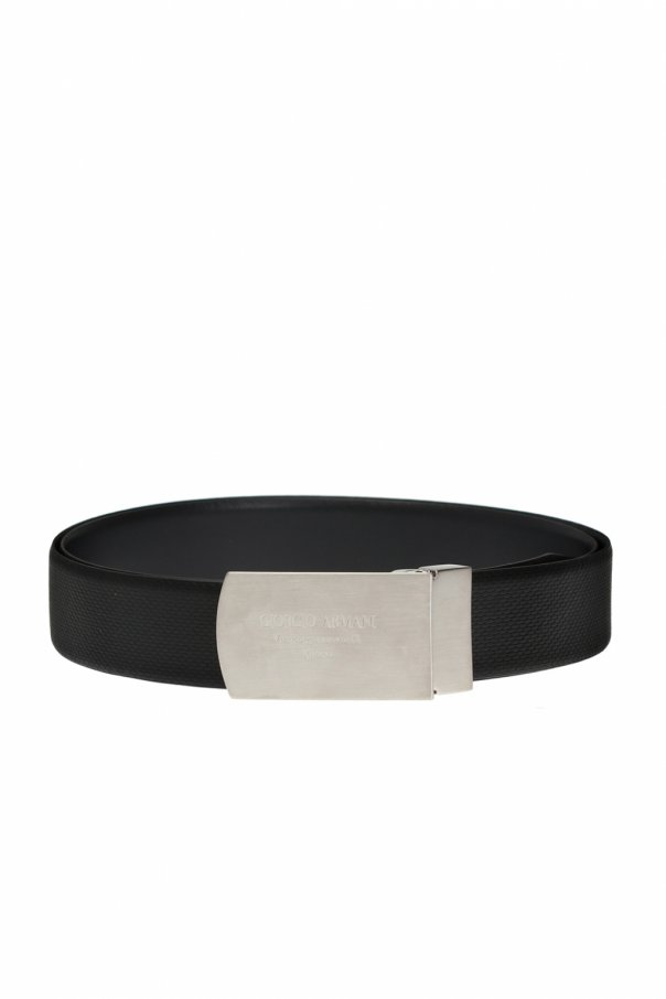 Leather belt with buckles od Giorgio Armani