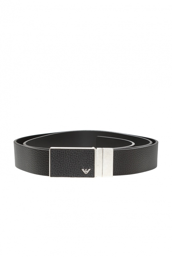 Belt with interchangeable buckles od Emporio Armani