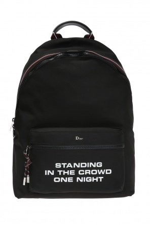 Backpack with metal logo od Dior