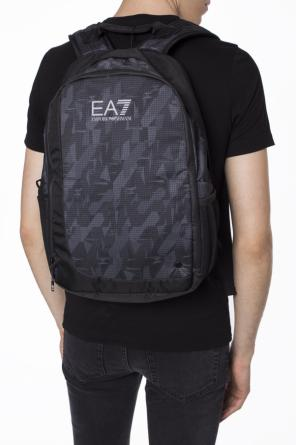 Patterned backpack with logo od EA7 Emporio Armani