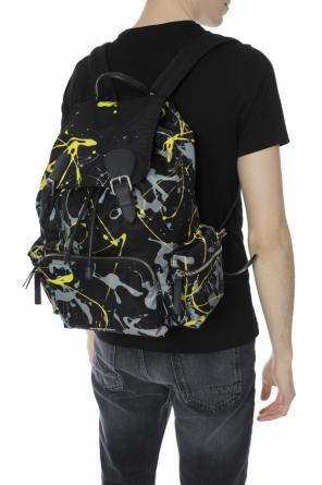 'splash print' patterned backpack od Burberry