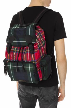 'patchwork tartan' patterned backpack od Burberry