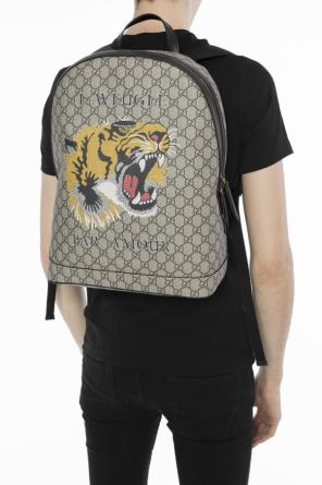 'gg supreme' canvas backpack od Gucci