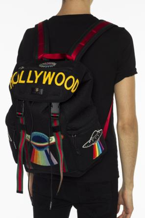 Embroidered backpack od Gucci