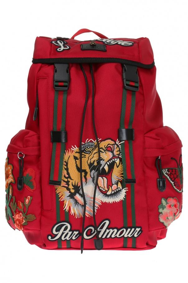76baeabb8b6 Embroidered backpack Gucci - Vitkac shop online