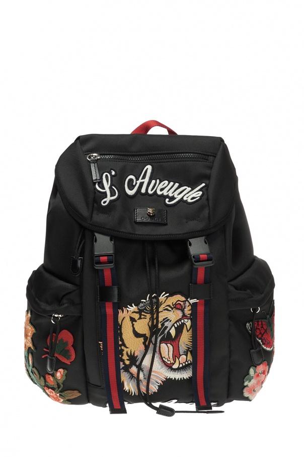 8b402cf7da02 Patched backpack Gucci - Vitkac shop online