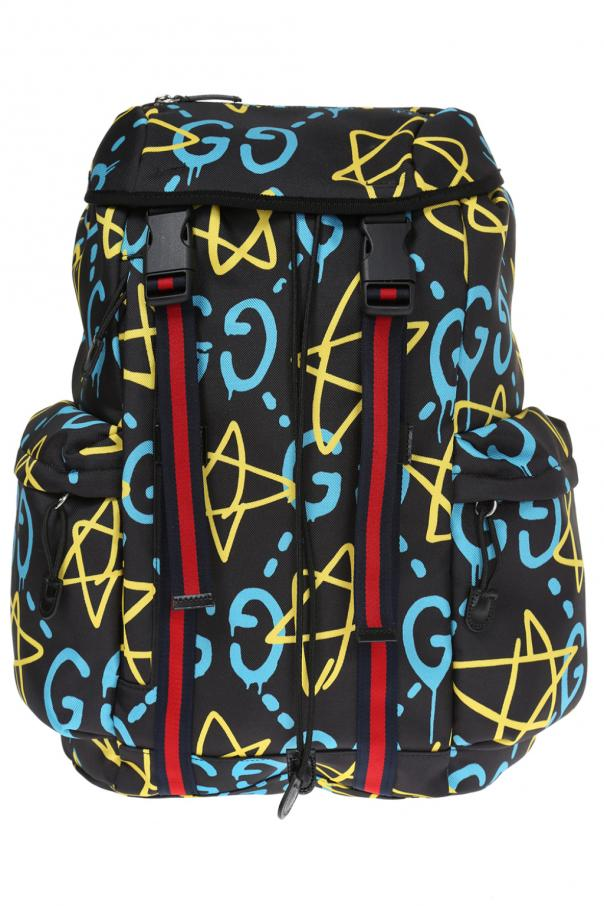 f2943f44d70e79 GucciGhost' printed backpack Gucci - Vitkac shop online
