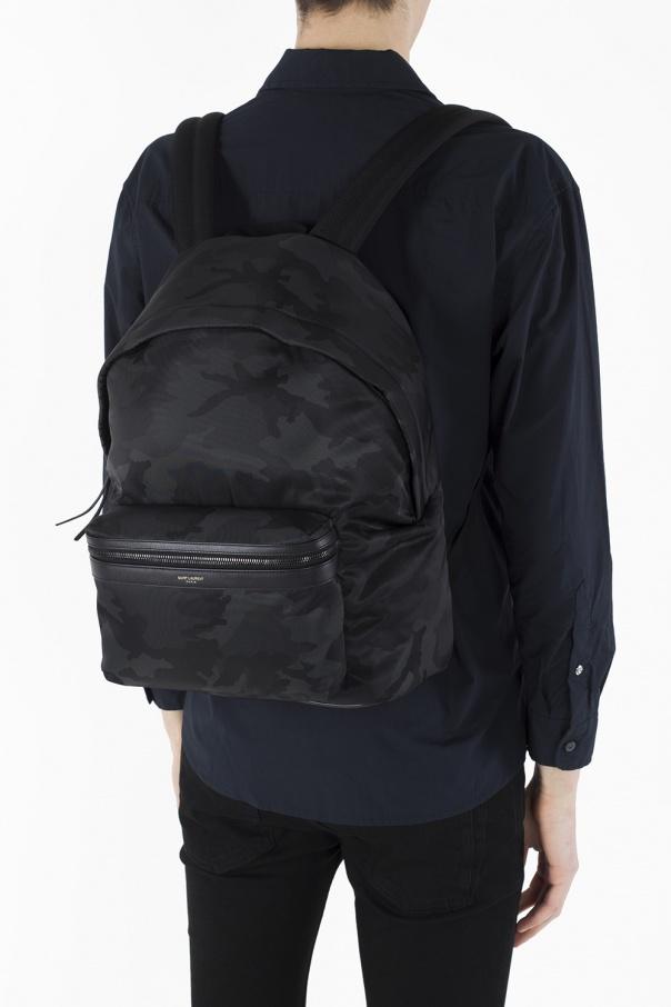 bdd36a1643e City  camo backpack Saint Laurent - Vitkac shop online