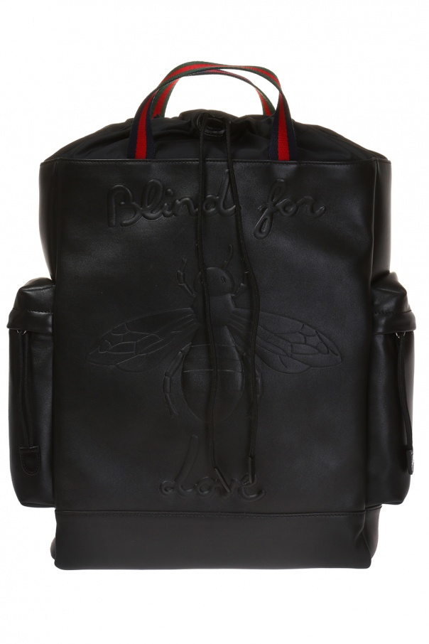 f2d43be7629 Bee leather backpack Gucci - Vitkac shop online