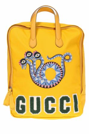 Appliqued backpack od Gucci Kids