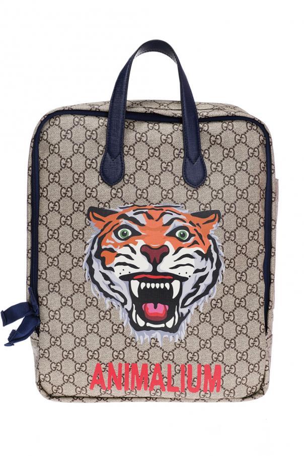 89b6f488675 GG Supreme  canvas backpack Gucci Kids - Vitkac shop online