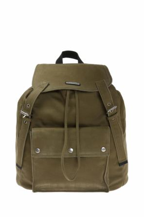 'noe' embossed logo backpack od Saint Laurent