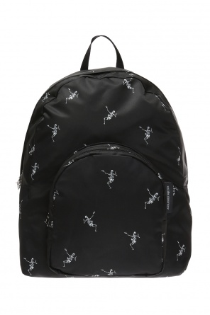Skeleton motif backpack od Alexander McQueen