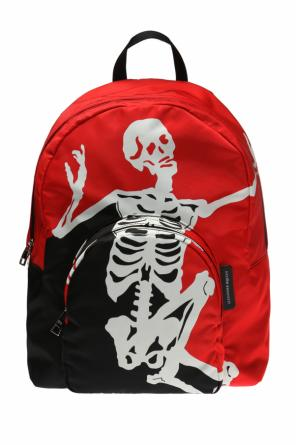 Backpack with a skeleton motif od Alexander McQueen