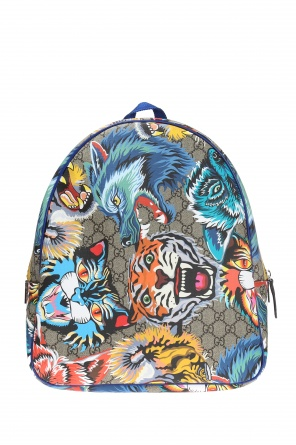 Animalier motif backpack od Gucci Kids