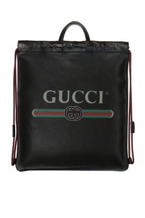 Printed leather backpack od Gucci