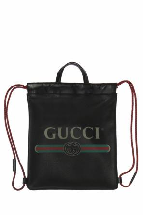 Logo-printed backpack od Gucci