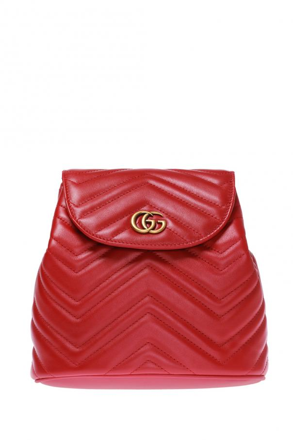7358606e4e5c68 GG Marmont' quilted backpack Gucci - Vitkac shop online