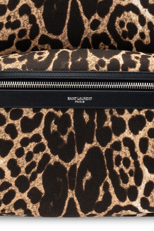 Saint Laurent 'City' leopard-printed backpack