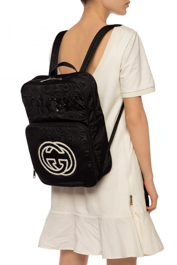 Logo-patched backpack od Gucci