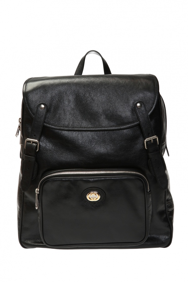 Gucci Leather backpack with logo