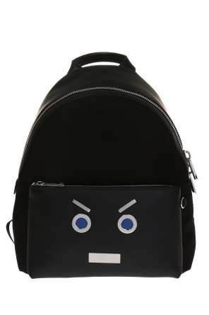 Backpack with decoration od Fendi