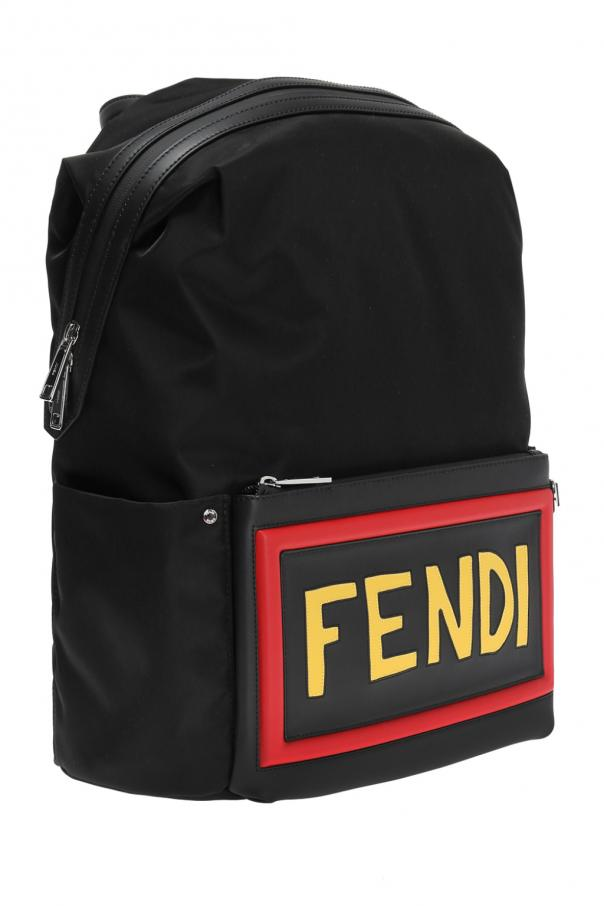 Logo-embroidered backpack od Fendi