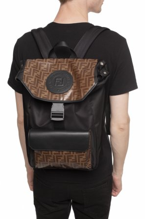 Backpack with a monogram od Fendi
