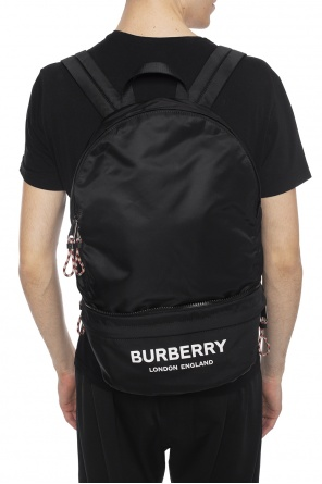 Logo-printed backpack od Burberry