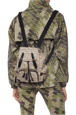 Monogram-printed backpack od Burberry