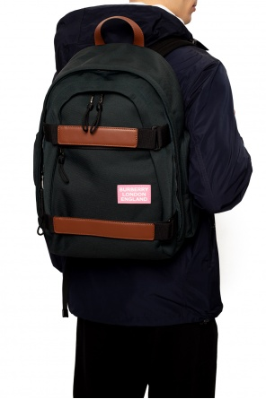 Logo-patched backpack od Burberry
