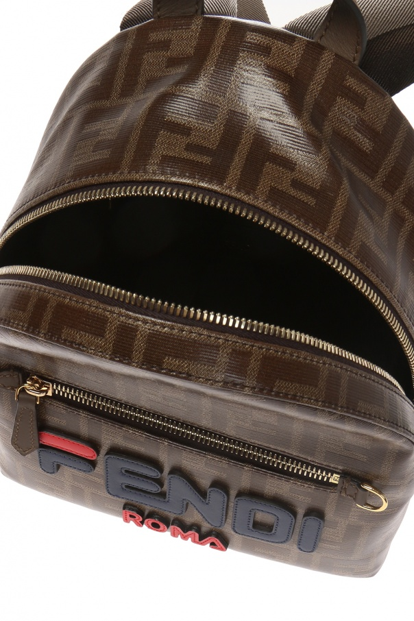 Logo backpack od Fendi