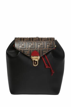 Leather backpack od Fendi