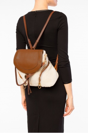 Sheep fur-trim backpack od See By Chloe