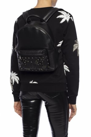 Leather backpack with logo od Philipp Plein