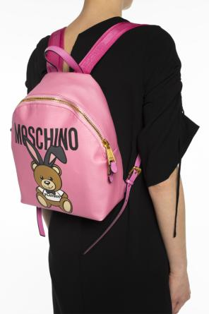 'bear playboy' printed backpack od Moschino